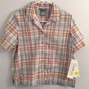 City Blues Multi Color Shirt 10-12 Petite NWT